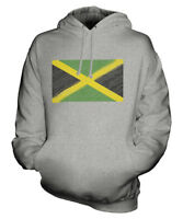 JAMAICA SCRIBBLE FLAG UNISEX HOODIE TOP GIFT JAMAICAN FOOTBALL