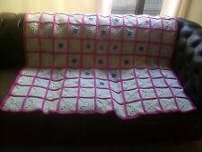 Handmade Crochet Vintage Style Granny Square Blanket / throw / bedspread