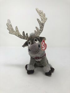 Ty Sparkle Frozen II Sven Reindeer Bean Bag Plush - New with Tags