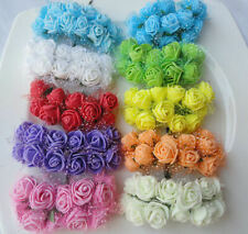 Artificial Roses Flower Bunch Craft Crafting Embellishments with Pretty Organza