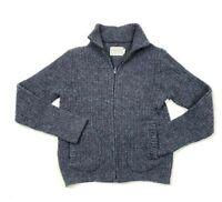 Vintage Pendleton Women's Blue Wool Full Zip Sweater Cardigan Jacket Size S
