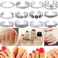 Finger Ring Retro Carved Toe Ring 12Pcs/set Women Lady Unique Adjustable Opening