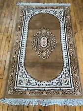 3' x 5' Tan Gold/Ivory - Oriental Rug Hand Knotted Woolen - Persian Design