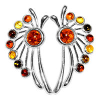 6.41g Authentic Baltic Amber 925 Sterling Silver Earrings Jewelry N-A8060C