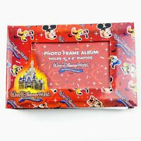 NEW Walt Disney World Red Mickey & Friends Photo Frame Album Holds 4x6 Picture
