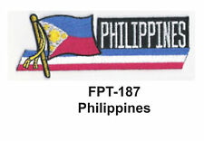 "1-1/2'' X 4-1/2"" PHILIPPINES Flag Embroidered Patch"