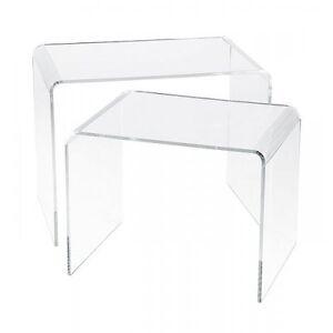 Plexycam Comodino Tavolino in Plexiglass Brillante o Nero Lucido Spessore 5mm