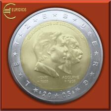 """2 Euro Gedenkmünze Luxemburg 2005 """" Henri + Adolphe """", bankfrisch"""