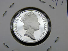 1997 10 cent proof coin. Only 32,543 made! Brilliant coin in 2 x 2 holder. RARE!