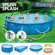 Bestway Swimming Pool Above Ground Pools Filter Sand Pump Ladder Full