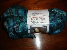 Red Heart Boutique Ribbons ruffle yarn NEW 3.5 oz 1 ball/skein Laguna