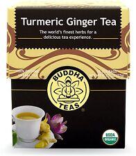 Turmeric Ginger Tea, Buddha Teas, 18 tea bag 1 pack