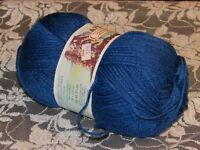 NEW PATONS CANADIANA Dark Cobalt Blue Yarn 100 g Acrylic Made in Canada 144