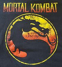 Classic Mortal Kombat Men's T-Shirt Large Black Short Sleeves 100% Cotton