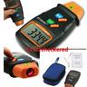 Digital Tachometer Laser Photo Non Contact RPM Tach Meter Motor Speed Gauge New