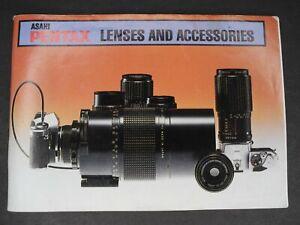Asahi Pentax Lenses & Accessories Book SMC & SMC M Lenses Spotmeter & Much More