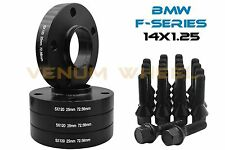 Complete Set Of 25mm BMW Black Hub Centric Wheel Spacers + Bolts F-Series New M