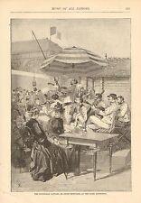 Gypsy Musicians At The Paris Exposition, Music, Vintage 1889 Antique Art Print
