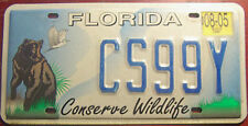 2005 FLORIDA BLACK BEAR CONSERVE WILDLIFE SPECIALTY LICENSE PLATE AUTO TAG FLA