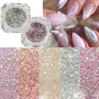 Holographic Nail Art Glitter Powder Dust UV Gel Acrylic Sequins  Tips