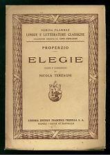 PROPERZIO ELEGIE PERRELLA 1933 SEMINA FLAMMAE LINGUE LETTERATURE CLASSICHE