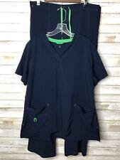 New listing Carhartt Force Women's Xl Navy Blue 2 Piece Scrub Set Shirt & Pants