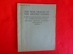 The War Graves Of The British Empire: France 82,83 (1924)
