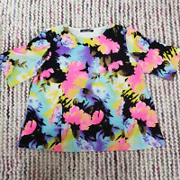 Ladies LOVE LABEL Summer T-Shirt Top Size 18 Multi Floral Stretch Short Sleeve