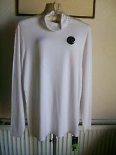 Ladies White Long Sleeve Polo Neck Golf Top, Size 20, Marks & Spencer, BNWT