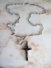 Ältere Rosenkranz-kette mit Kruzifix Gebet Religiöse Volkskunst