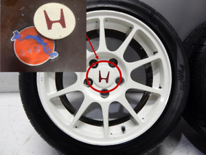 Original Wheels Center Cap Enkei Honda iTR Integra 98 & Honda Ek 99 Type R