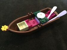 Lego ROW BOAT -Brown - For Minifigures -Friends City Town Potter