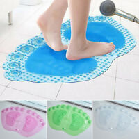 Strong Non Slip Shower Bath Mat Bathroom Rubber Massage PVC Suction Cups Popular