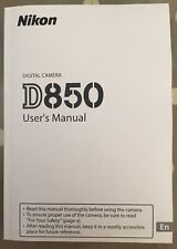 NIKON D850 Manual  - Printed & Professionally Bound Size A5 - NEW 404 Pages
