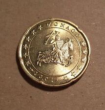 RARE : 20 cent Monaco 2001, neuve