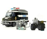 Police Security Cash Truck & Bike Custom Lego Set