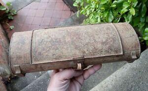 Rare Unusual Early 1800s Metal Botanists Specimen Box