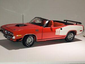 Franklin Mint 1971 Plymouth Hemi Cuda Convertible. Mint/never Displayed. Orange.