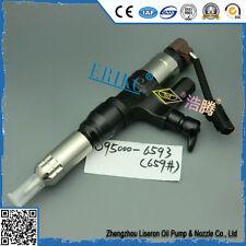 ERIKC Denso Fuel Injector 095000-6593 Hino J08E Kobelco SK330-8 SK350 Excavator