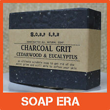 ACTIVATED CHARCOAL GRIT- odour removal- all natural cold process handmade soap