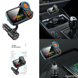 Wireless Bluetooth FM Transmission Car Hands-free MP3 Player QC3.0With LED Light