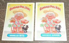 1985 Garbage Pail Kids - Wrinkled Rita 78a & 78b