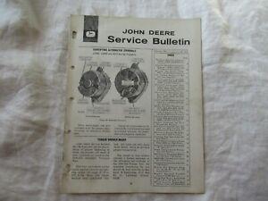 1965 John Deere JD500 JD600 5010 4020 service bulletin brochure Nebraska test