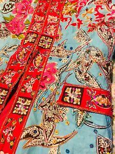 Sandy Starkman Plenty Sequined Beaded Embroidered Cotton Fancy Jacket M