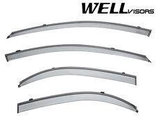 WellVisors Side Window Visors Deflectors W/ Black Trim For 04-09 Kia Spectra 4Dr