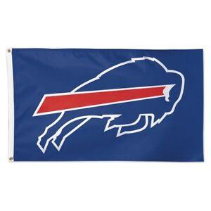 BUFFALO BILLS BLUE BACK GROUND 3'X5' DELUXE FLAG BRAND NEW WINCRAFT 👀