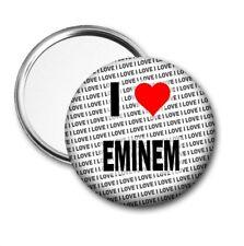 I Love Eminem Poche / Miroir de Sac à Main - Cadeau - Anniversaire - Petit Noël