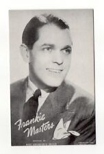 Frankie Masters 1940's-50's Mutoscope Music Corp of America Arcade Card Postcard