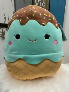 12 Inch Maya The Mint Ice Cream Cone Squishmallow Kellytoy Plush Food Squad NWT