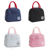 Portable Women Adults Kids Insulated Thermal Lunch Bag Box Canvas Picnic Tote